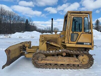 Caterpillar D4b Dozer Bulldozer W Cab And New Undercarriage