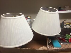 2 Beige lamp shades