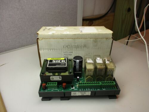 SICK OPTIC ELECTRONIC POWER SUPPLY RELAY BOARD LCU-AM 7022760 #19945T USED