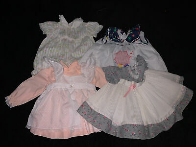 4 Beautiful Vintage 70s Girl Dress Lot Of 4 dresses size 6 Months
