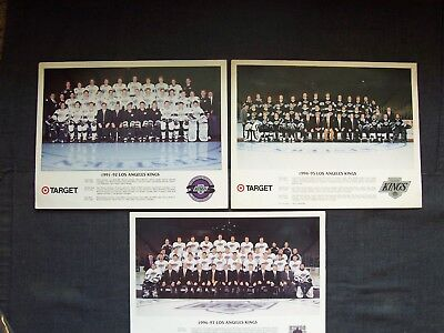 Los Angeles Kings Target Store team pictures: 1991-1992, 1994-1995 & (Los Angeles Angels Team Store)