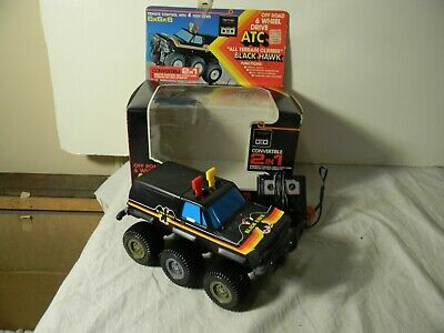 1980'S CHEVY BLAZER OFF ROAD 6 WHEEL DRIVE BLACK HAWK REMOTE CONTROL WITH BOX