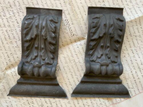 Antique Pair of Architectural Zinc Pediments - Early 1900s