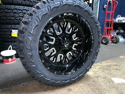 """20x10 Fuel D611 Stroke 33"""" MT Wheel and Tire Package 6x135 Ford F150 Expedition"""