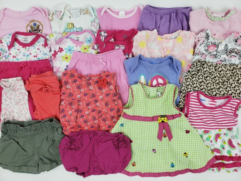 3-6 Months Baby Girl Clothes Lot Carters Place Gerber Onesie Outfit Dress Romper