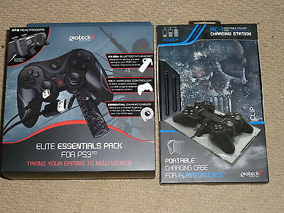 PLAYSTATION 3 PS3 KIT WIRELESS CONTROLLER BLUETOOTH HEADSET HDMI USB CHARGER NEW