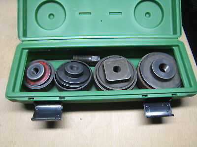 Greenlee 7304 2-12 - 4 Knockout Set With Case Free Shipping