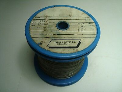 Nos Wilbur B Driver Nickel 400 Round .019 Wire 4.96 Lbs Spool