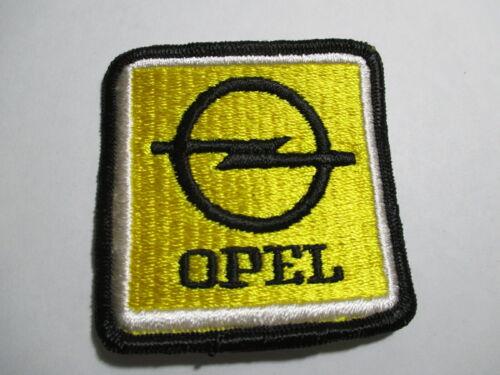 Opel German Car Patch, Vintage, Original, NOS 2 5/8 X 2 11/16 INCHES