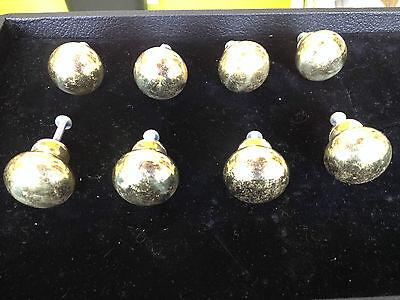 8 Solid Brass Drawer Pulls Knobs Vintage Handles Furniture Cabinet Hardware