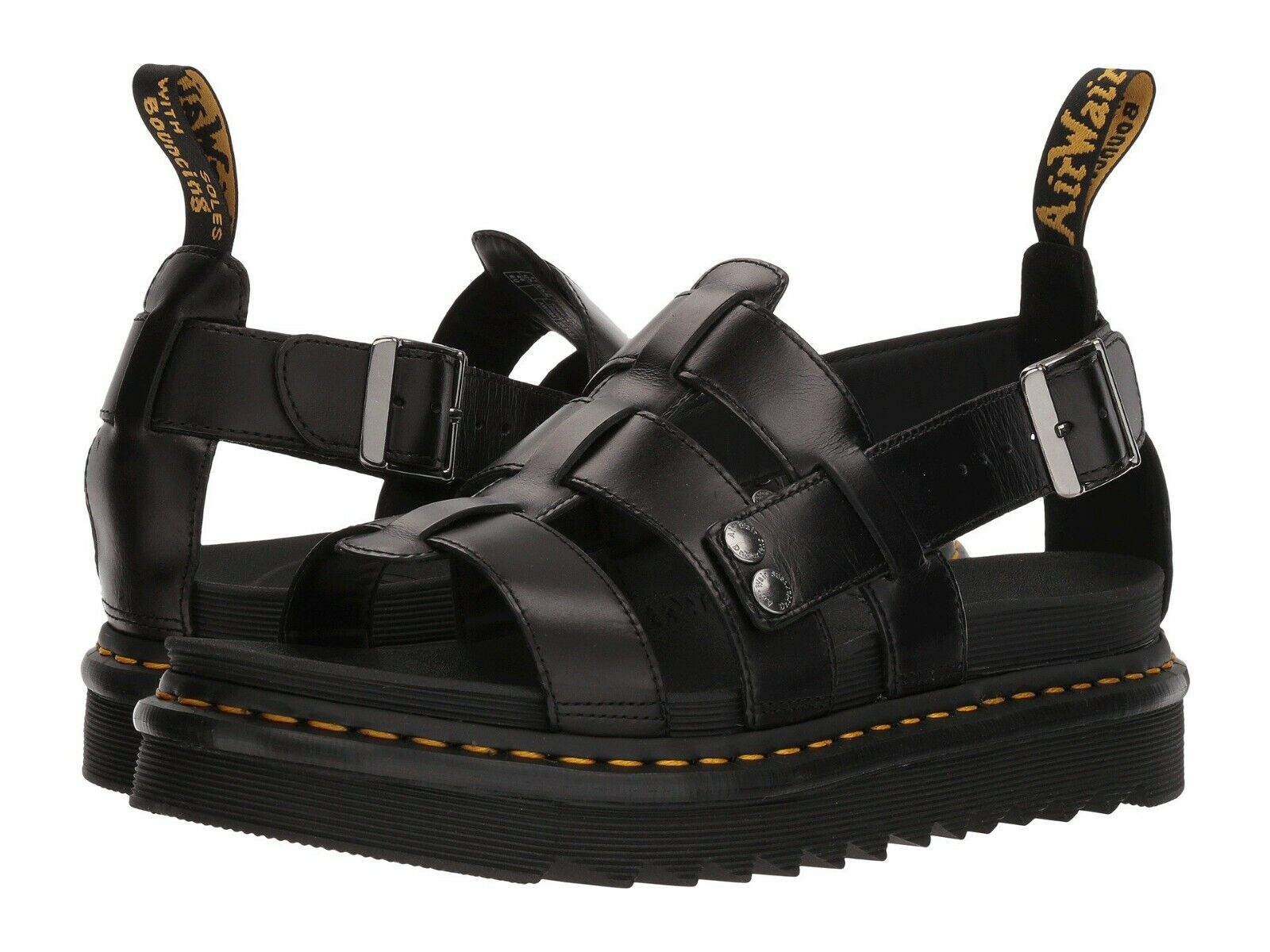 Men's Shoes Dr. Martens TERRY Leather Fisherman Sandals 23521001 BLACK BRANDO