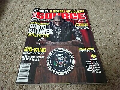 The Source Hip Hop Magazine David Banner, Wu-Tang, Gucci Mane Oct 2007 - Hip Hop Banners