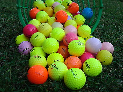 100 PALLINE COLORATE  DA GOLF USATE PEARL-AAA START MIX