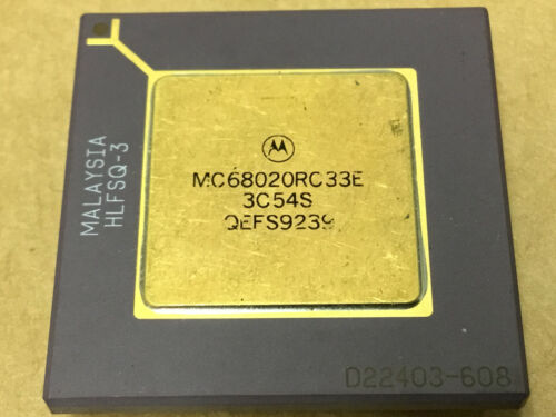 (1 PC)  MOTOROLA  MC68020RC33E   Microprocessor, 32 Bit, 114 Pin, Ceramic, PGA