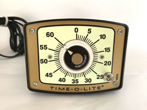 ITC Time-O-Lite Photographic Darkroom Timer Model GR-90, Instructions, adhesives
