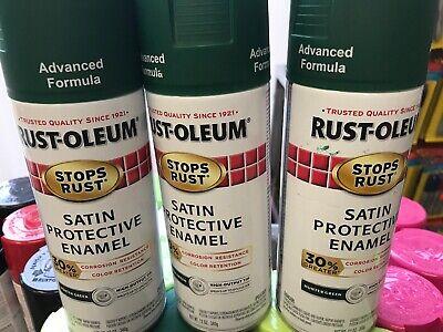 Rust-Oleum Protective Enamel 12-Ounce Stops Rust Spray Paint Satin Hunter -