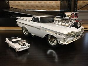 1/18 scale Chevy El Camino modified model car woh small version