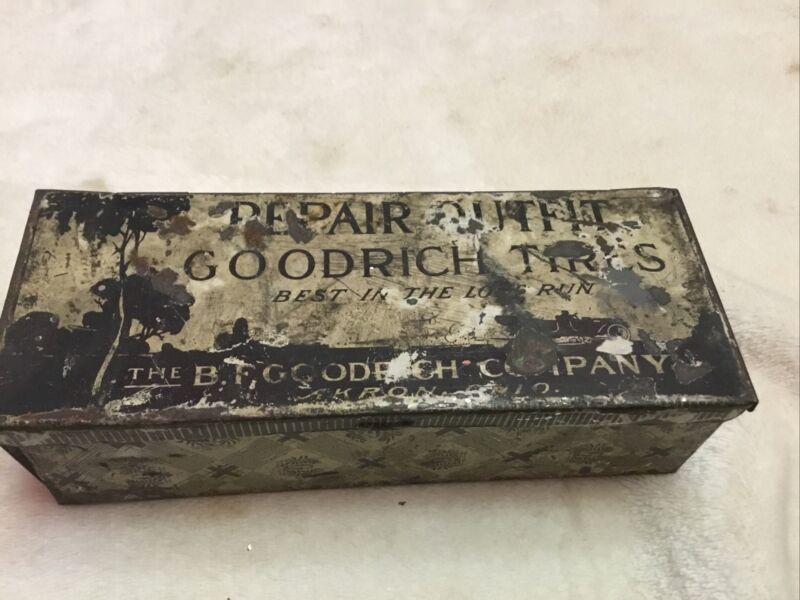 Vintage GOODRICH TIRES Repair Tin  Metal Box - Service Station