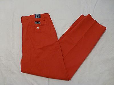 NWT MENS NAUTICA TRUE KHAKI PANTS FLAT FRONT $49 P2101N 6SR SAILOR RED