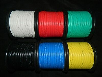 14 Gauge Stranded Wire - 14 GAUGE WIRE PICK 4 COLORS 25 FT EA PRIMARY AWG STRANDED COPPER POWER REMOTE