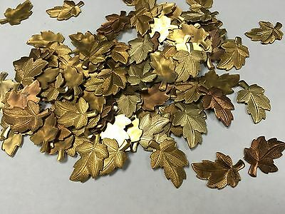 Solid Copper Plated (Copper plated leaf shape solid metal pieces lot of)