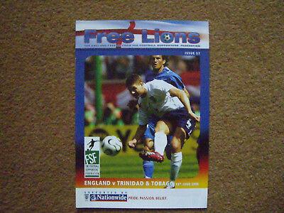 ENGLAND V TRINIDAD & TOBAGO FREE LIONS, 15/6/2006, ISSUE 57, WORLD CUP 2006