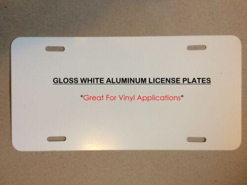 "25pcs  .024  6"" x 12"" Gloss White  Aluminum License Plate / Car Tags"