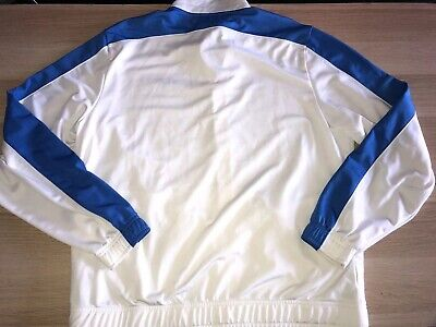 puma sport lifestyle jacket White And Bleu Size L Full Zipper Front