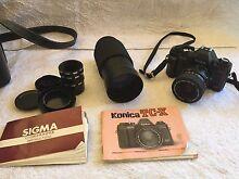 Konica TC-X SLR Film Camera with Hanimex Zoom Lens Tallegalla Ipswich City Preview