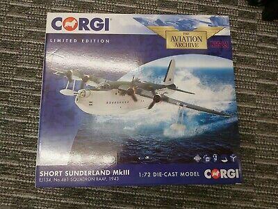 Corgi AA27501 Short Sunderland MK III Diecast Model Plane Aircraft 1:72 Scale