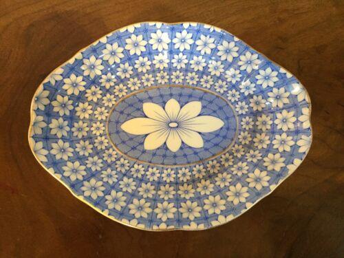 Antique 19th c. English Crown Derby Porcelain Dish Plate Bowl Platter Daisy