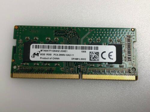8GB MICRON 1RX8 PC4-2666V-SA2-11 DDR4-2666 MTA8ATF1G64HZ-2G6E1 LAPTOP MEMORY