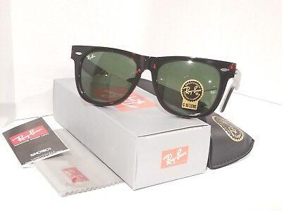 Ray Ban Tortoise Frame - Ray-Ban RB2140 Original Wayfarer Sunglasses 902 Tortoise Frame Green Lens 54MM