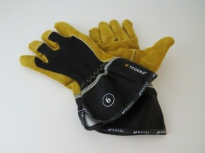 6 x TEGERA 139 Heavy Duty Heat Resistant Leather Welding Gardening Work Gloves