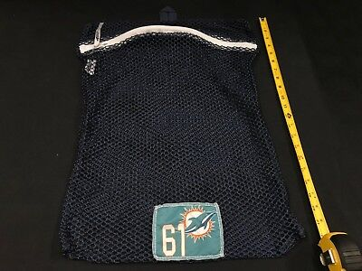 ALL NUMBERS MIAMI DOLPHINS GAME USED NAVY MESH LAUNDRY BAG PICK YOUR # (Miami Dolphins Bag)