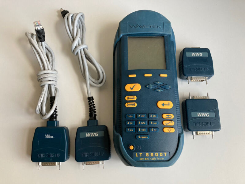 Wavetek LT 8600T 300MHz Cable Tester W/ Cables, No Power Adapter