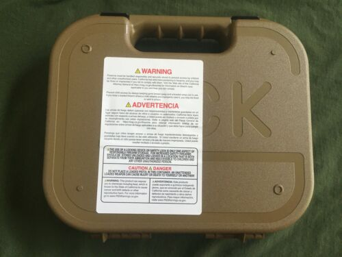 Glock Factory FDE19X Pistol Case with manual FREE SHIP