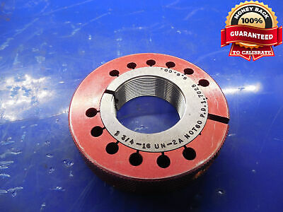 1 34 16 Un 2a Thread Ring Gage 1.75 No Go Only P.d. 1.7025 N-2a Inspection