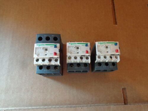 (3) Schneider Electric LRD10, LRD07 Thermal Overload Relays