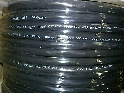 Belden 1075a 2 Pair20 Awg Shielded Tray Cable Direct Burial Uv 200 Ft. Spool