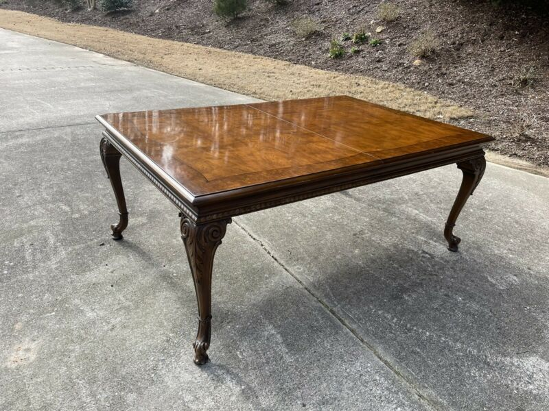 Karges Model #860 Chippendale Dining Table - Solid Walnut - 3 Leaves
