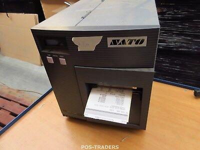 """SATO CL408E Parallel Thermo Label Drucker REWINDER 203dpi 4.1"""" 104mm - 7.2M"""