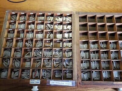 Vintage Letterpress Metal Type Kelsey 10 Point Printing Type Set Caplow S
