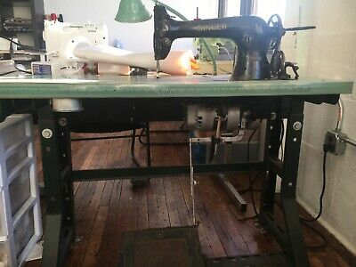 Singer 31-15 - Vintage Heavy Duty Industrial Sewing Machine W Table And Motor