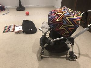 Bugaboo Bee Stroller w/Missoni Canopy and accessories