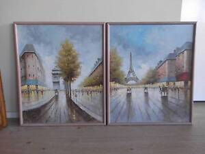 FRENCH SCENE PICTURES SET OF 2 Pimpama Gold Coast North Preview