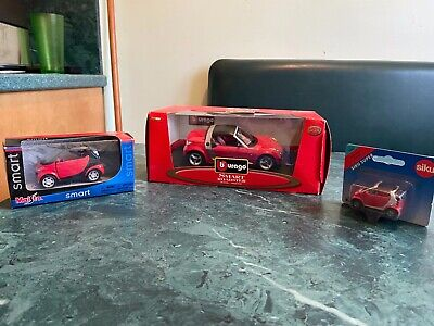 Collection of 3 Smart Car Diecast Models New in Boxes