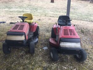 2 ride on mowers plus parts $400 obo
