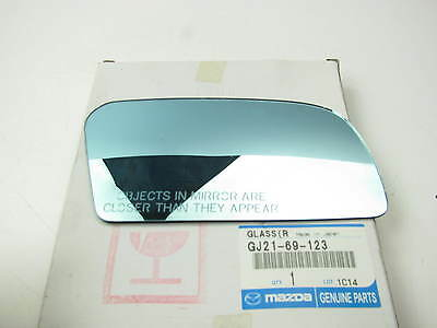 GJ2169123 Right Side Mirror Replacement Glass OEM For Mazda 626 MX-6 1988-1992 ()