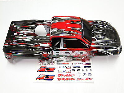 NEW TRAXXAS REVO 3.3 Body ProGraphix Painted Red RR6R ()